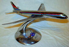 Vintage Douglas DC-8 Desk Display Metal Airplane Model with Stand