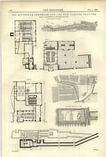 1893 Rotterdam FOGNATURE opere vecchie e nuove stazioni di pompaggio