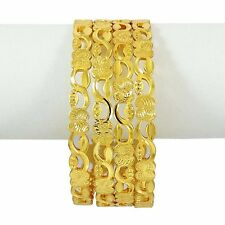 Goldplated Bangles 4PC Traditional Indian Women Fashion Bracelets Jewelry 2*6