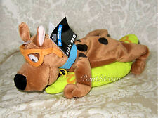 Warner Bros. Scooby Doo Dog W/Glasses on yellow flower SURFBOARD Bean Bag Plush