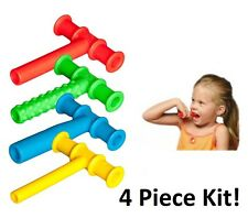 Chewy Tube FOUR PIECE Kit Teething ASD Motor Chewing Biting Therapy Sensory Toy