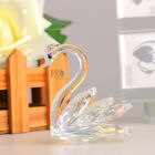 Clear 3D Crystal Paperweight Facet Swan Figurine Glass Xmas Decoration Lady Gift