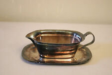 Antique Vintage Reed & Barton Silverplated Gravy Boat & Dish
