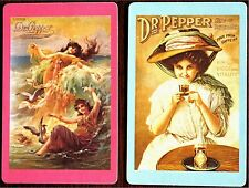 ADVERTISING- LADIES - DR PEPPER- FREE FROM CAFFEINE- PAIR SWAP PLAYING CARDS
