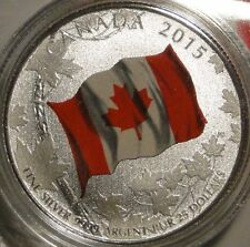 2015 $25 Dollar .9999 Fine Silver 'Canada Flag' Commemmorative coin