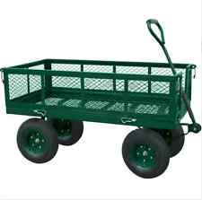 Garden Carts And Wagons Utility Crate Tow Industrial Landscape Heavy Duty Steel