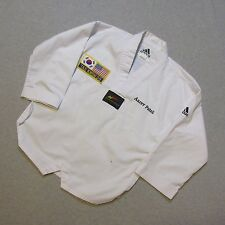 ADIDAS 130CM YOUTH KIDS TAE KWON DO CHAMPION FEDERATION KARATE GI UPPER UNIFORM