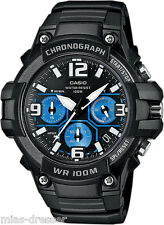 Casio Mens MCW-100H-1A2 Heavy Duty Chronograph Analog Display Quartz Watch 100M
