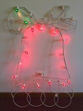 "VTG Christmas Outdoor Yard Decor Bell Shaped Metal Electric Lights 44"" x 28"""
