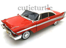 Autoworld 1958 Plymouth Fury Christine 1:18 Diecast Model Car Red AWSS102