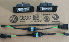 Audi A4 B8 RS4 rear boot trunk licence plate LED lights with adapter cable