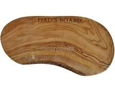 """12""""/ 30cm PERSONALIZED / ENGRAVED OLIVE WOOD CUTTING / CHEESE BOARD (OL052engr)"""
