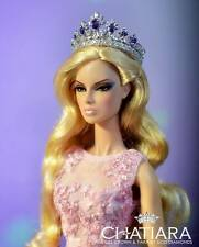 Diamond Crown Tiara Barbie Fashion Royalty Dolls 9 (Purple)