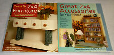 Great 2x4 Accessories for Your Home & 2X4 Furniture~Lot of 2 How To Books