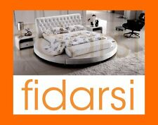 NEW Round King LEATHER Bed French Furniture Sofa Lounge Mattress Bedside Tables