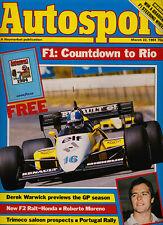 Autosport 22 Mar 1984 - Bellof Tyrrell, Peter Walker, Silverstone FF2000, Mazda