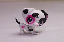 *Littlest Pet Shop* LPS #3217 White Black Pink spotted Dalmatian Dog near MINT