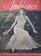 JOURNAL AMBIANCE n° 119 de 1947 couverture JANET BLAIR / MAX REGNIER / AURIOL