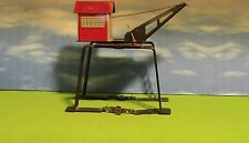 MARX - O SCALE - TIN LITHO DERRICK GANTRY CRANE - TRAIN FREIGHT ACCESSORY