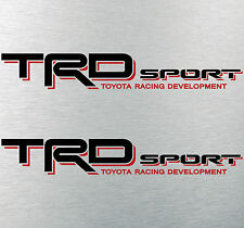 """TOYOTA TACOMA TRD SPORT DECALS STICKERS (2) 18""""X3"""" DECALS BLACK & RED"""