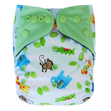 EcoAble Baby Charcoal Bamboo AIO All-In-One Cloth Diaper with Pocket, Animals
