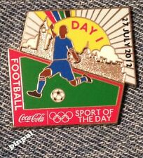 Football~~Soccer Olympic Pin Badge~2012~Coca Cola~Coke~Day 1~Mounted on Card