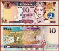 FIJI 10 DOLLARS 2002 UNCIRCULATED P.106a