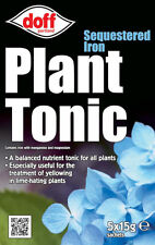 New Doff Sequestered Iron Plant Tonic Garden Plant Feed / Fertilizer 5x15g Pack
