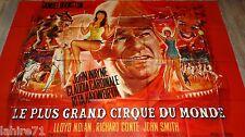 LE PLUS GRAND CIRQUE DU MONDE ! j wayne affiche cinema geante 240X320cm 1964