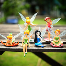 6pcs Tinker Bell Fairies Figures Cake Topper Secret Wing Girl Kids Party Toy HOT