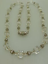 Ancien collier strass vintage FRANCE ART DECO necklace cut Crystal must have