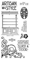 Graphic45 Cling Stamps-ARTISAN STYLE #1 scrapbooking Set of (9)