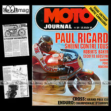 MOTO JOURNAL N°311 DAYTONA OLD BIKE SHOW BARRY SHEENE FANTIC 50 CABALLERO '77