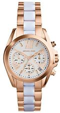 NEW MICHAEL KORS MK5907 ROSE GOLD BRADSHAW MINI WATCH - 2 YEAR WARRANTY