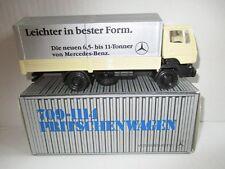 NZG 249 Mercedes-Benz 709-1114 Pritschenwagen mit Plane und Aufschrift 1/50 OVP