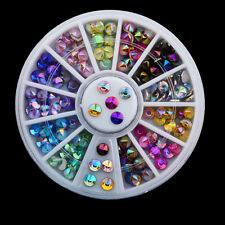 Nail Crafts Studs Rhinestones Glitters DIY 3D Nail Art Decoration Manicure Wheel