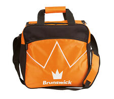 Brunswick Blitz Black/Orange 1 Ball Bowling Bag