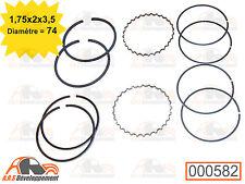 KIT SEGMENTS 1,75x2x3,5 pour 2 pistons 602cc Citroen 2CV DYANE MEHARI AMI8 -582-