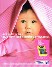 PUBLICITE ADVERTISING 094  1990   FRANCE TELECOM  les pages jaunes