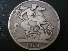 Great Britain UK 1822 Crown Sterling Silver Coin