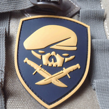 TAN SPECIAL FORCES SKULL MEDAL OF HONOR MOH RANGER 75th REGIMENT 3D PVC PATCH