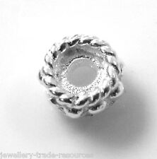 STERLING SILVER 5mm ROUND BEAD WITH PATTERN JEWELLERY MAKING