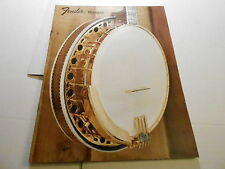 VINTAGE MUSICAL INSTRUMENT CATALOG #10237 - FENDER BANJOS (301 1072)