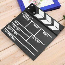 Director Video Scene Clapperboard TV Movie Clapper Board Film Slate Cut Prop LJ