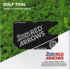 OFFICIAL RAF RED ARROWS GOLF DIVOT REPAIR AND BALL MARKER WALLET TOOL