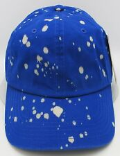 Blue Unconstructed Color Dyed Splatter Cap Dad Painter Hat Adjustable NWT