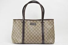 Authentic Gucci Hand Bag  Browns PVC 66184