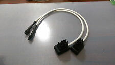 2 Cables for use Segway GEN-1 UIC as Offboard battery charger for Segway PT