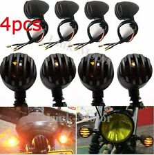 4PCS Motorcycle Black NEW Turn Signals Blinker lights Indicator Bullet Universal