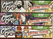 SET OF 3 CHEECH AND CHONG  HEMP CIGARETTE ROLLING PAPERS KING SIZE 150 LEAVES
